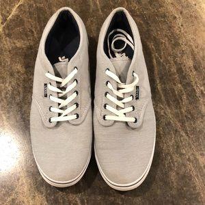 Grey Vans. 10